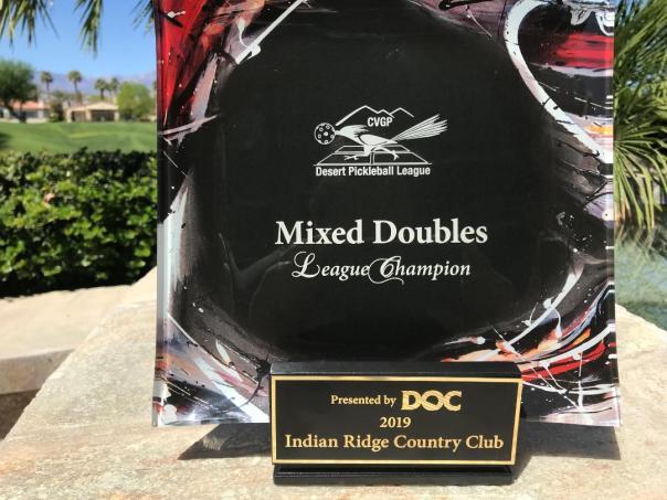 MixedPickleball League Trophy